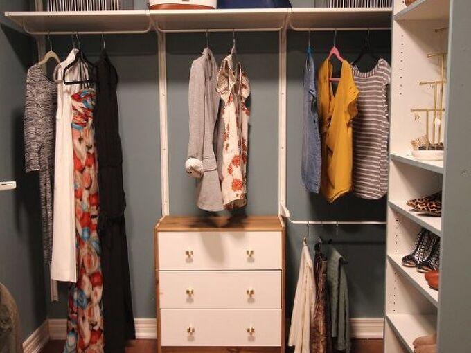 master bedroom shared walk through closet