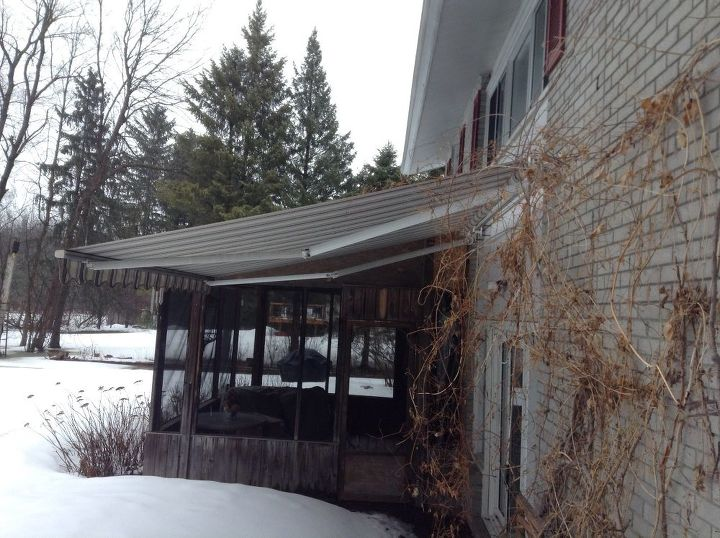 q how can i safely clean a large canvas awning