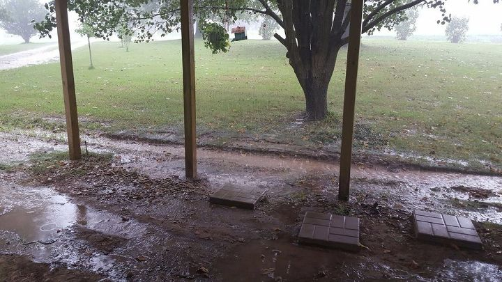 q how can i fix a serious drainage problem by my front porch