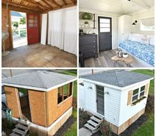 from garden shed to modern farmhouse guest cottage in 5 weeks