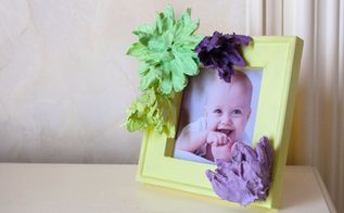 diy plaster of paris flower photo frame