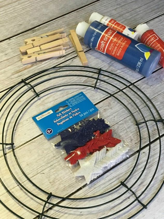 memorial day clothespin wreath