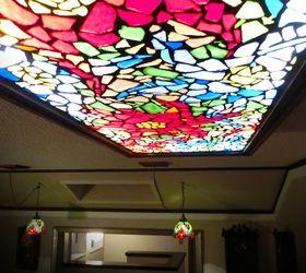 How To Make A Diy Mosaic Gl Light Hometalk