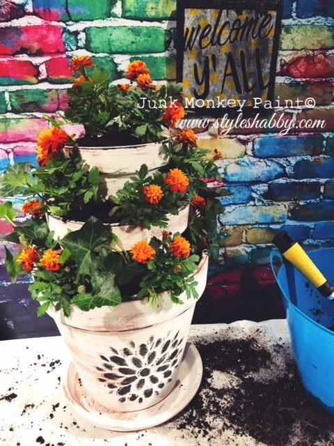 make your entryway beautiful with this flowerpot idea