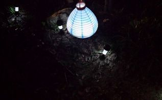 q battery operated light into a solar light