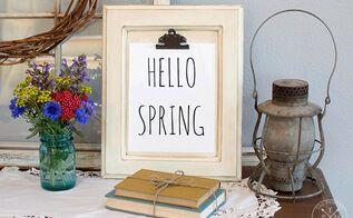 diy cabinet door clipboard hello spring free printable