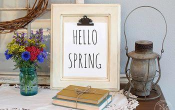 DIY Cabinet Door Clipboard & Hello Spring Free Printable