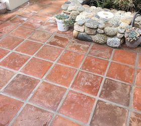 my outdoor courtyard has worn out salmon colored saltillo tile iu0027d like to modernize the space and i am hoping to stain it a darker greybrown