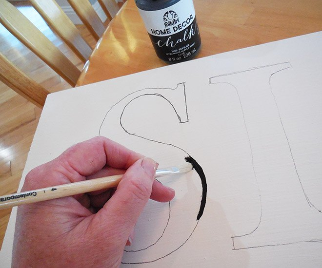 free printable letters instructions for making farmhouse style signs