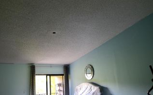 q popcorn ceiling cover, Before installation stretch ceiling