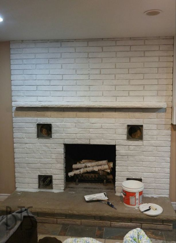 my fireplace makeover that cost me next to nothing