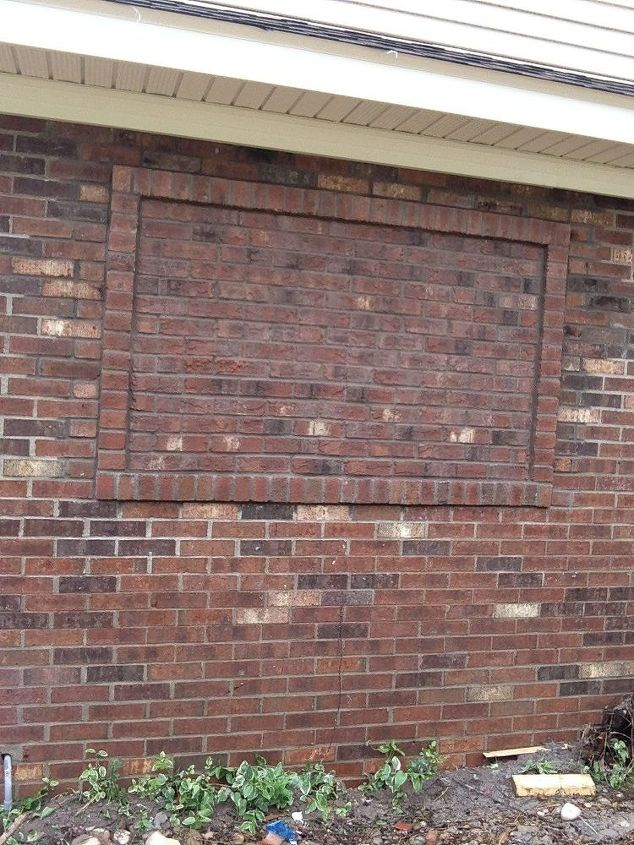 q how do i dress up this bricked up window