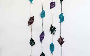 diy felt leaves wall decor