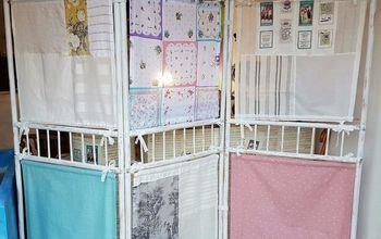 Room Divider Given a Feminine Vintage Look