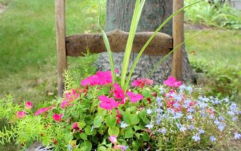 Tutorial for Adding Chicken Wire to a Chair for Flowers