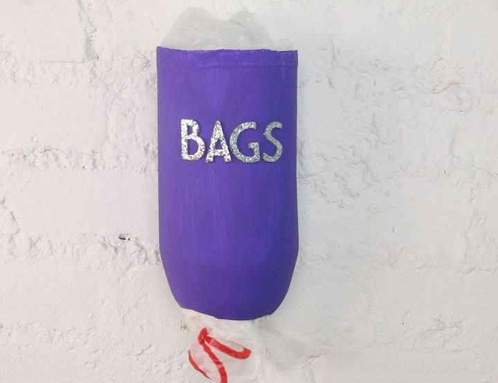s 15 useful ways to reuse your leftover plastic bottles, Organize Plastic Bags With A Dispenser