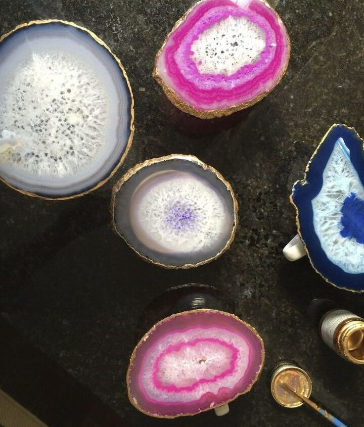 s crafters copy these gift ideas for your friends, For That Crystal Lover Craft An Agate Holder