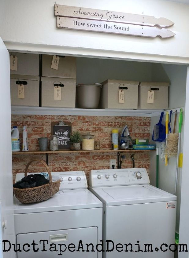 how to update your laundry closet with only 100