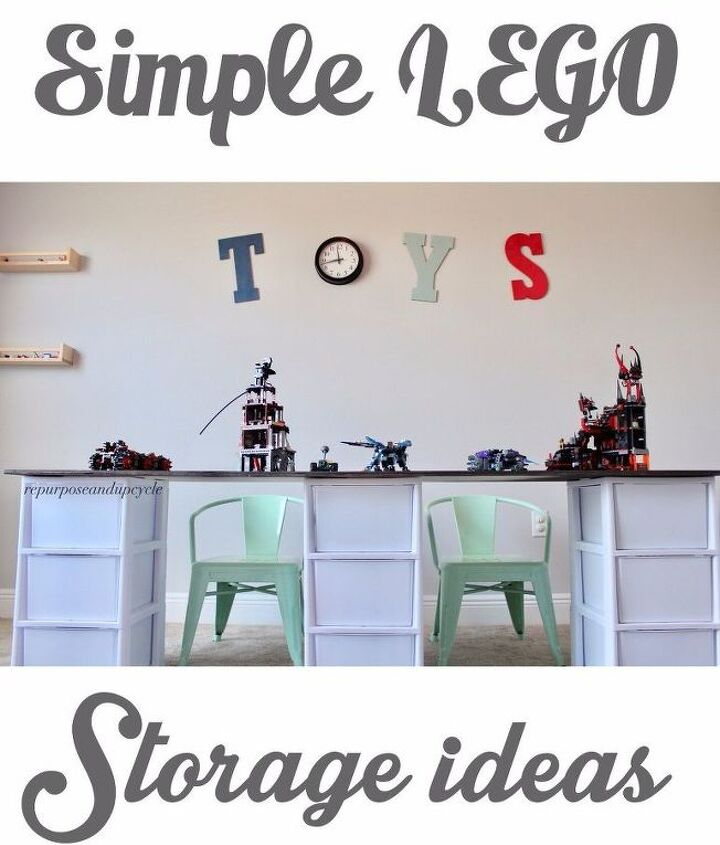 simple lego storage idea with a diy lego table