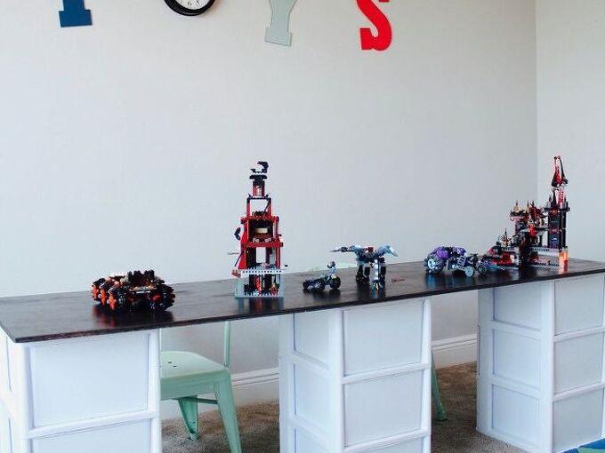 simple lego storage idea with a diy lego table