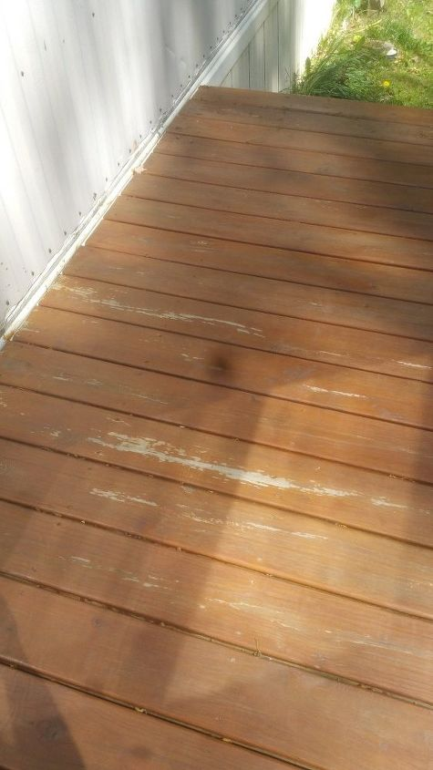 q last fall i used a stain seal for 1st on deck part of boards peeled
