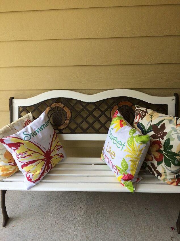 e patio bench fresh look for summer