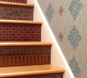 12 Diy Paint Stencil Ideas For Your Stairs Hometalk