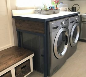 Diy Laundry Table Hide The Machines Fold Laundry Stop Losing Socks