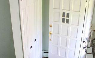front entryway closet makeover on a budget