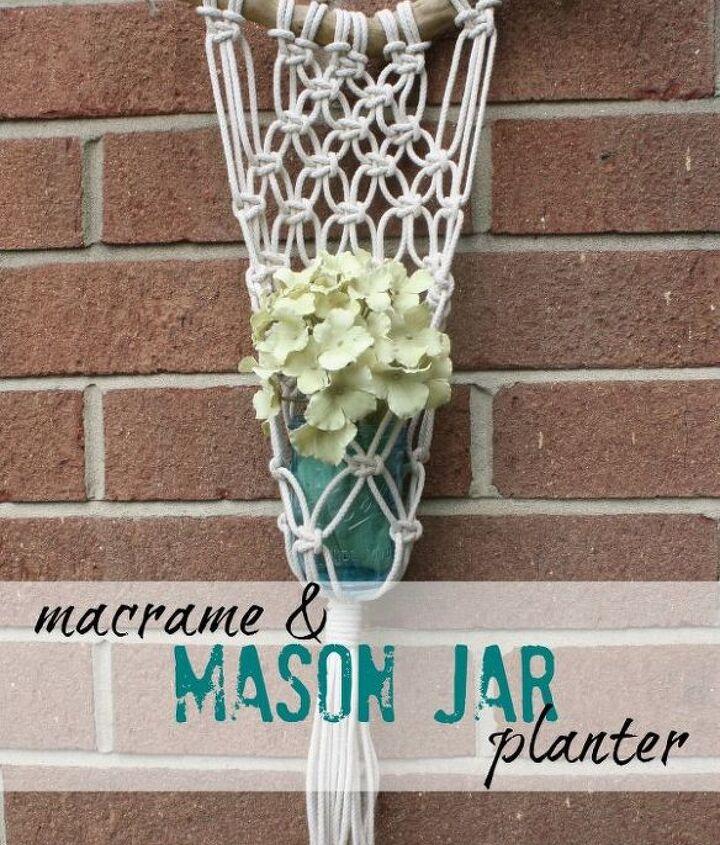macrame mason jar planter