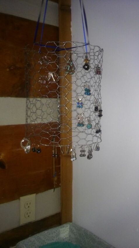 e chicken wire jewelry holder night light
