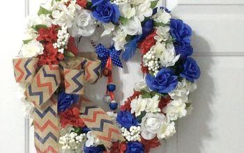patriotic floral wreath