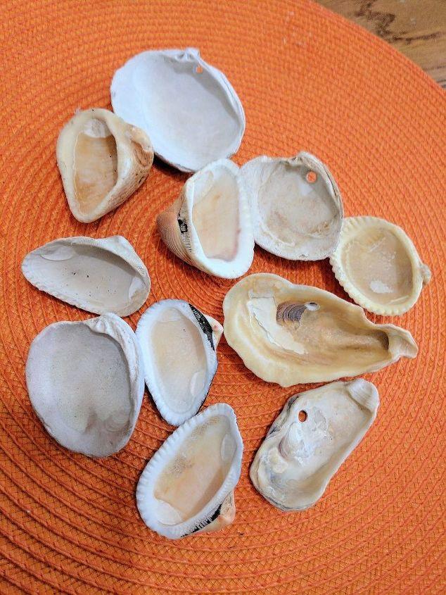 seashell garden markers
