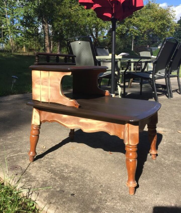 mid century side table up cycle