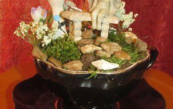 Mini Fairy Garden In A Tea Cup....