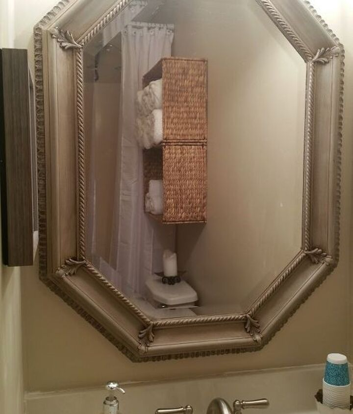 gold mirror makeover with chalk paint