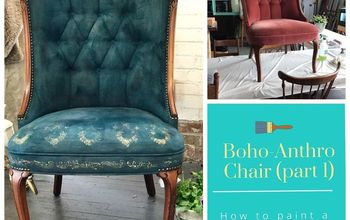 Create A Boho/Anthro Style Chair With Paint! Furniture UPcycle