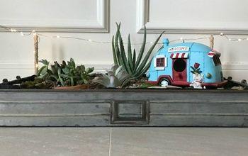 make this fun diy indoor succulent garden with mini lights