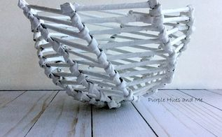 recycled newspaper tubes bowl