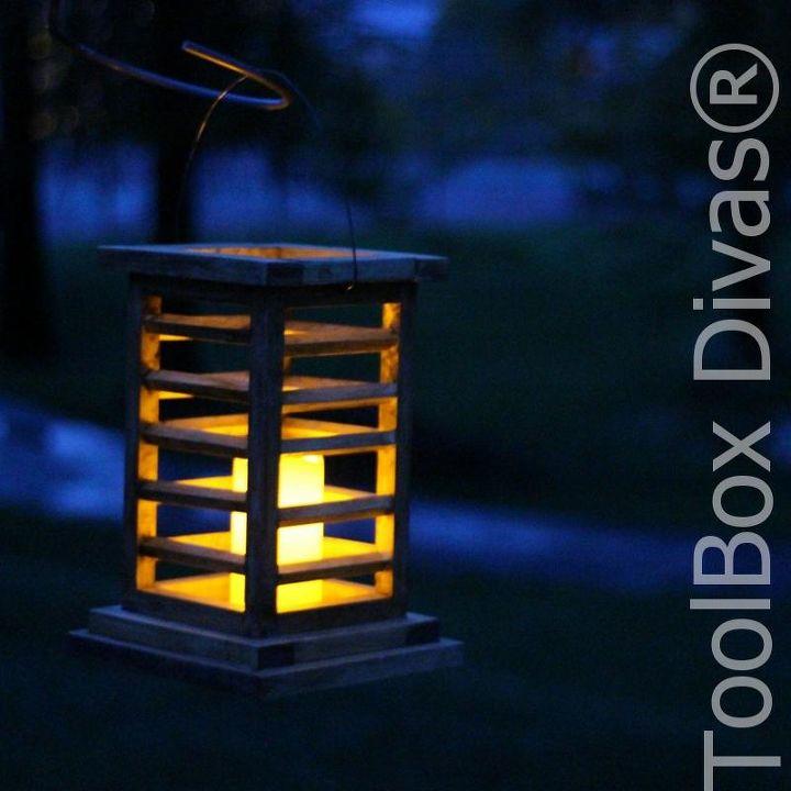 diy wooden lantern that looks like you bought it