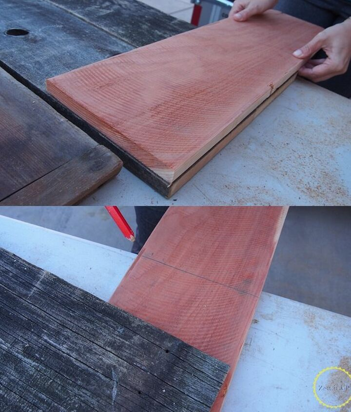 diy rustic wood and window bench