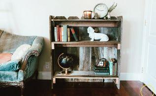 diy rustic fence board bookshelf