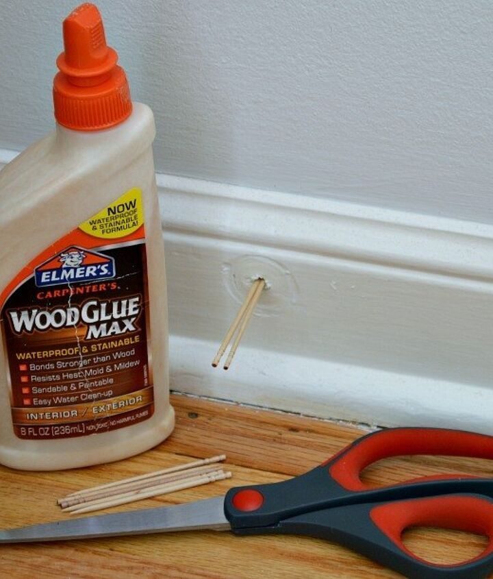 s 30 tricks to help you fix the wood in your home, Fill A Hole In The Wall With Glue