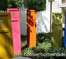 S 30 Garden Art Ideas To Fall In Love With, Stand Spray Painted Shutters In