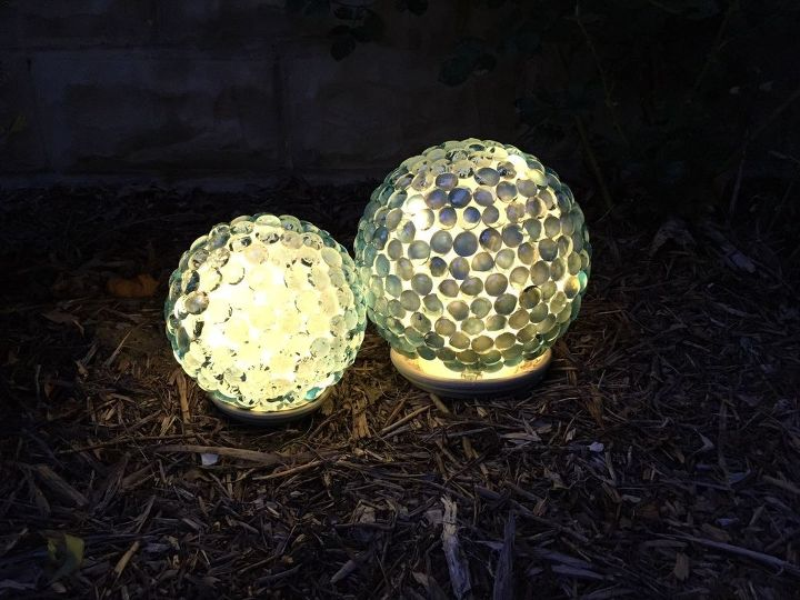 s 30 garden art ideas to fall in love with, Make Garden Globes With Marbles