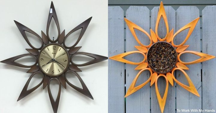 s 30 garden art ideas to fall in love with, Makeover A Clock To Sit In The Garden