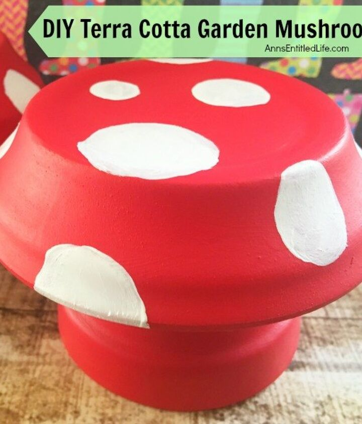 s 30 garden art ideas to fall in love with, Paint Toadstools With Terra Cotta