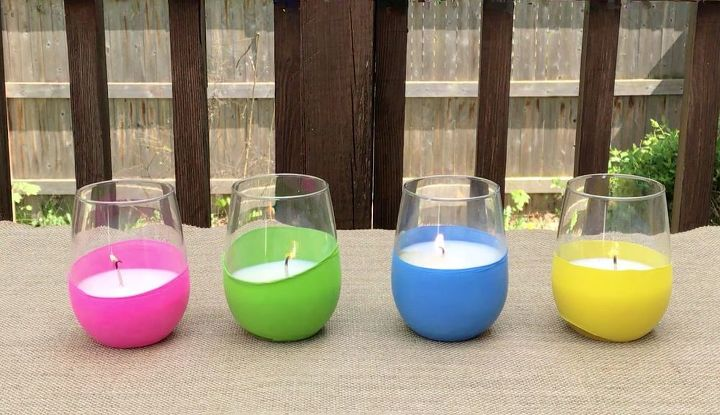 s 10 beautiful projects that use balloons, Decorate Citronella Candles With Balloons