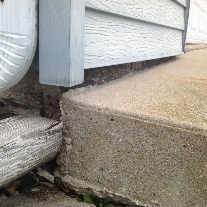 q my driveway is sinking on one side can anyone help