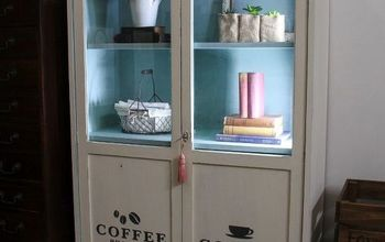 Milk Painted Cabinet for a Whole New Look!